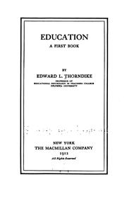 Education, a first book PDF