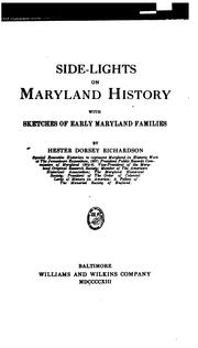 Cover of: Side-lights on Maryland history by Hester Dorsey Richardson