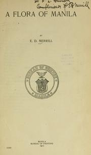 A flora of Manila by Elmer Drew Merrill