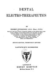 Dental electro-therapeutics by Ernest Sturridge