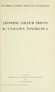 Japanese colour prints by Edward Fairbrother Strange