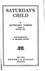 Saturday's child PDF