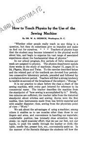 Mechanics of the sewing machine.. PDF