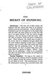 The secret of exposure by Fraprie, Frank Roy