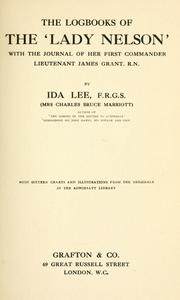 Cover of: The logbooks of the &#39;Lady Nelson,&#39; by Ida Lee