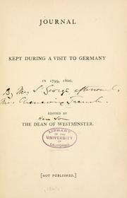 Journal kept during a visit to Germany in 1799, 1800 PDF