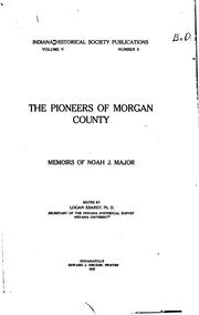 Cover of: The pioneers of Morgan County by Noah J. Major