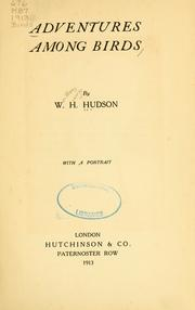 Adventures among birds by W. H. Hudson