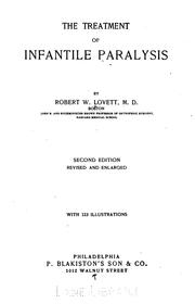 The treatment of infantile paralysis by Robert Williamson Lovett