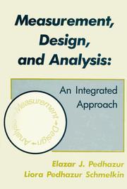 Measurement, design, and analysis PDF