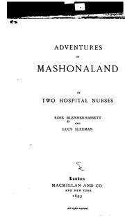 Adventures in Mashonaland by Rose Blennerhassett