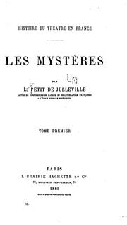 Histoire du thtre en France by L. Petit de Julleville