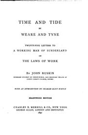 Time and tide by John Ruskin