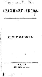 Reinhart Fuchs by Brothers Grimm