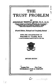 The trust problem by Jenks, Jeremiah Whipple