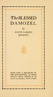The blessed damozel by Dante Gabriel Rossetti