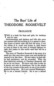The boys' life of Theodore Roosevelt by Hermann Hagedorn
