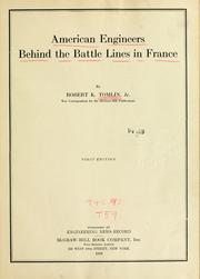 American engineers behind the battle lines in France PDF