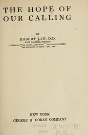 The hope of our calling by Robert Law