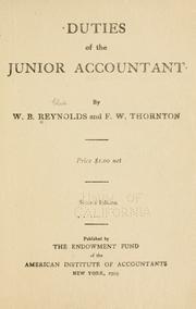 Duties of the junior accountant PDF