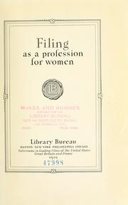Filing as a profession for women PDF