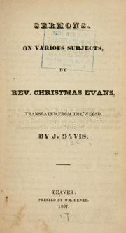 Sermons on various subjects PDF