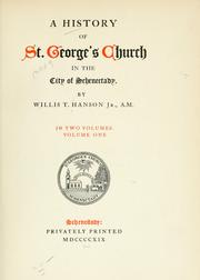 A history of St. Georges church in the city of Schenectady.