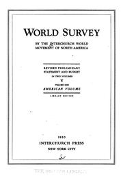 World survey by Interchurch World Movement of North America.