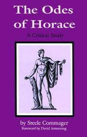 The Odes of Horace by Steele Commager
