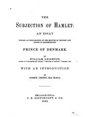 The subjection of Hamlet PDF