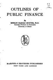 Outlines of public finance PDF