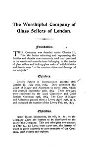 The Worshipful company of glass sellers of London .. PDF