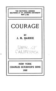 Courage by J. M. Barrie