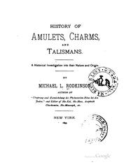 History of amulets, charms and talismans PDF