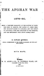 The Afghan war of 1879-80 by Howard Hensman