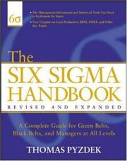 The Six Sigma handbook by Thomas Pyzdek