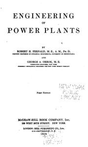 Engineering of power plants by Robert Heywood Fernald