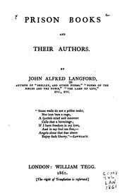 Prison books and their authors by John Alfred Langford