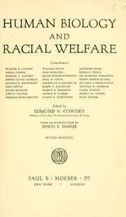 Human biology and racial welfare PDF