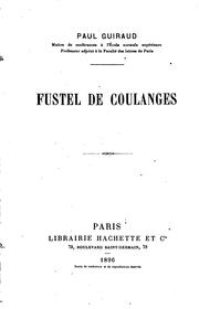 Fustel de Coulanges by Paul Guiraud