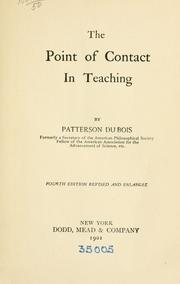 The point of contact in teaching by Patterson Du Bois