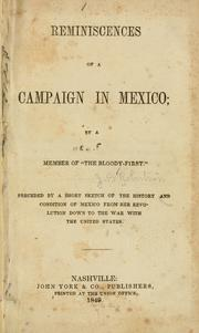 Reminiscences of a campaign in Mexico by John Blout Robertson