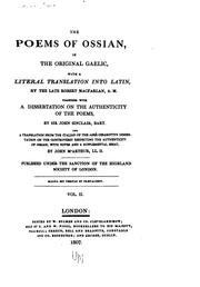 The poems of Ossian, in the original Gaelic by Macpherson, James
