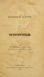 A historical sketch of Westfield by Emerson Davis