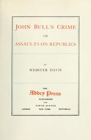 John Bull's crime PDF