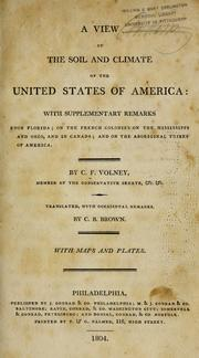 Cover of: A view of the soil and climate of the United States of America by Constantin-François Volney
