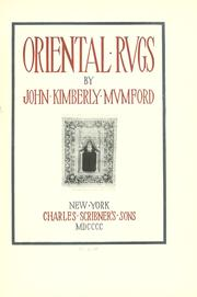 Oriental rugs by Mumford, John Kimberly