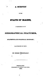 A survey of the state of Maine by Moses Greenleaf