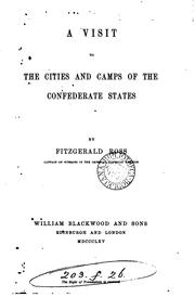 A visit to the cities and camps of the Condederate states PDF