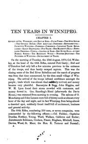 Ten years in Winnipeg by Begg, Alexander